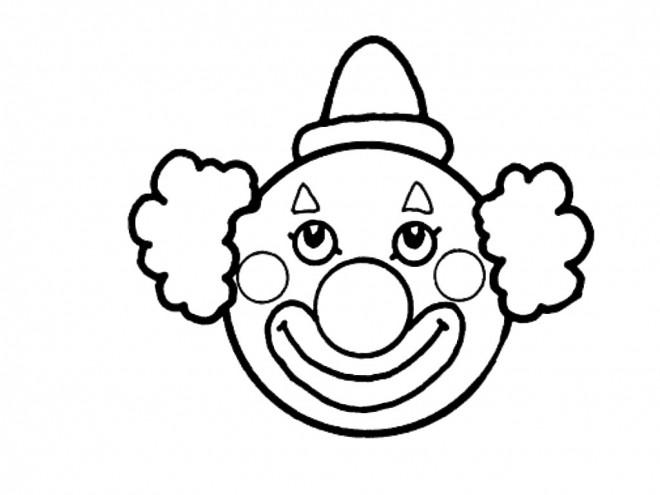 Coloriage et dessins gratuits Cirque Tête de Clown à imprimer