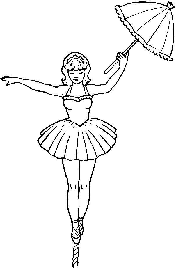 Coloriage et dessins gratuits funambule au cirque à imprimer