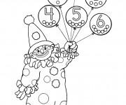 Coloriage Le Clown porte des Ballons