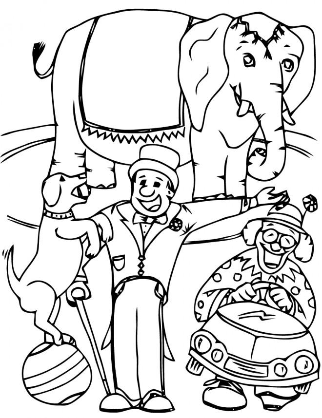 Coloriage et dessins gratuits Les Spectacle des Animaux Cirque à imprimer