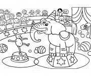 Coloriage et dessins gratuit Spectacle Cirque à imprimer