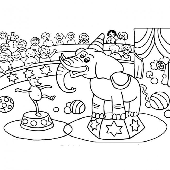 Coloriage et dessins gratuits Spectacle Cirque à imprimer