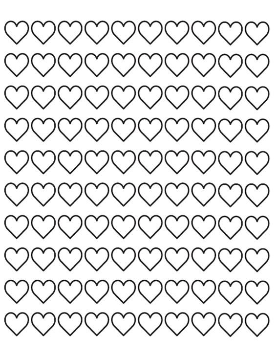 Coloriage et dessins gratuits Amour infini à imprimer