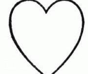 Coloriage dessin  Coeur 1