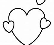 Coloriage dessin  Coeur 3
