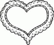 Coloriage dessin  Coeur 4