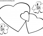 Coloriage Coeur Amour