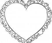 Coloriage Coeur décoré
