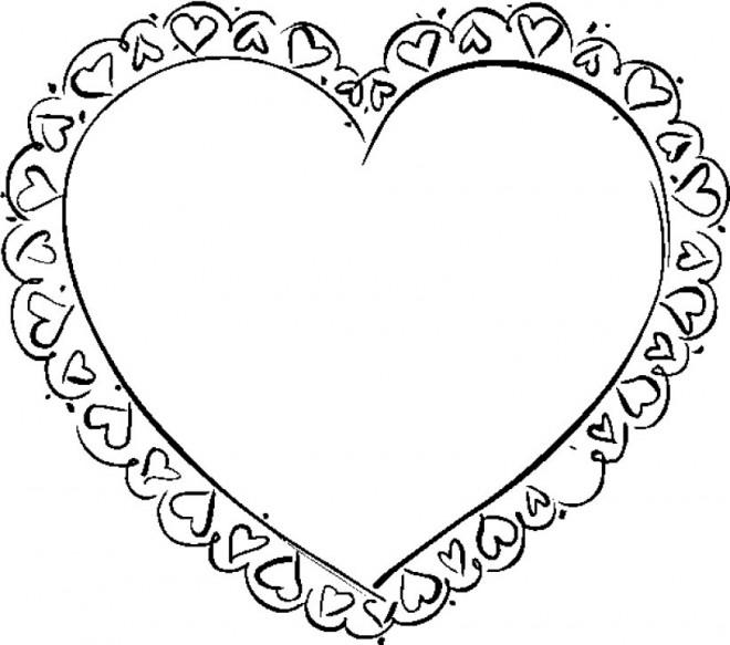 Coloriage et dessins gratuits Coeur décoré à imprimer