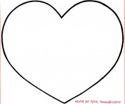 Coloriage Coeur en couleur