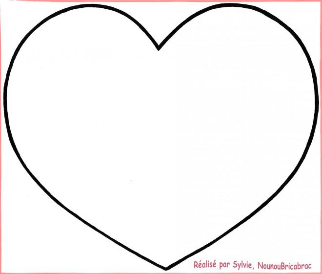Coloriage coeur en couleur dessin gratuit imprimer - Coeur en dessin ...