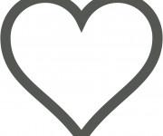 Coloriage Coeur et Amour maternelle