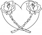 Coloriage Coeur et Fleurs