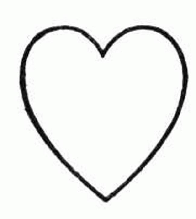 Coloriage Coeur Facile à Dessiner Dessin Gratuit à Imprimer