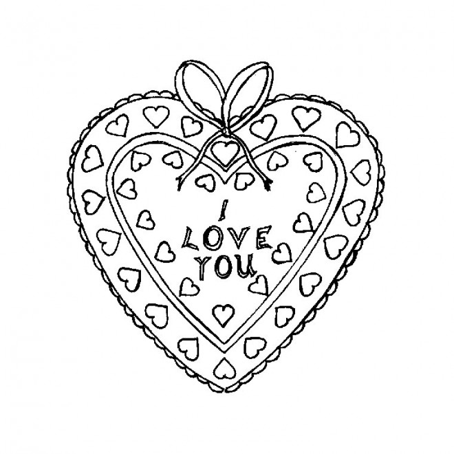 Coloriage Coeur Je Taime A Imprimer.Coloriage Coeur Je T Aime Dessin Gratuit A Imprimer