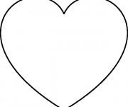 Coloriage et dessins gratuit Coeur maternelle à imprimer