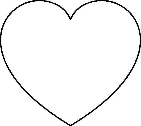 coloring pages heart shapes - photo#44