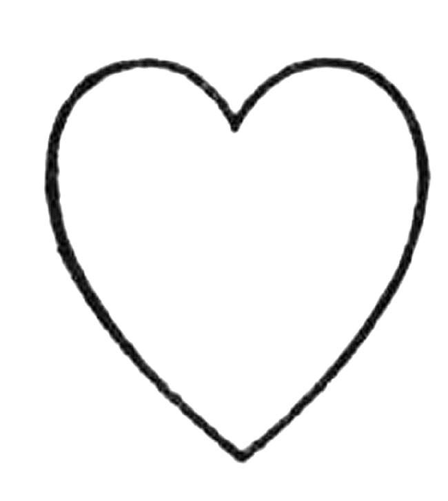 Coloriage Coeur maternelle à télécharger