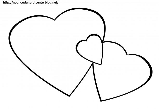 Coloriage et dessins gratuits Coeur pour les sentiments d'amour à imprimer