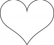 Coloriage et dessins gratuit Coeur simple à imprimer