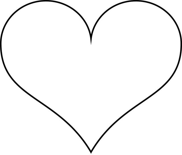 Coloriage Coeur Simple Dessin Gratuit A Imprimer