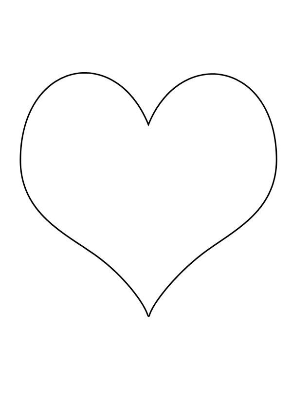 Coloriage et dessins gratuits Coeur simple en couleur à imprimer