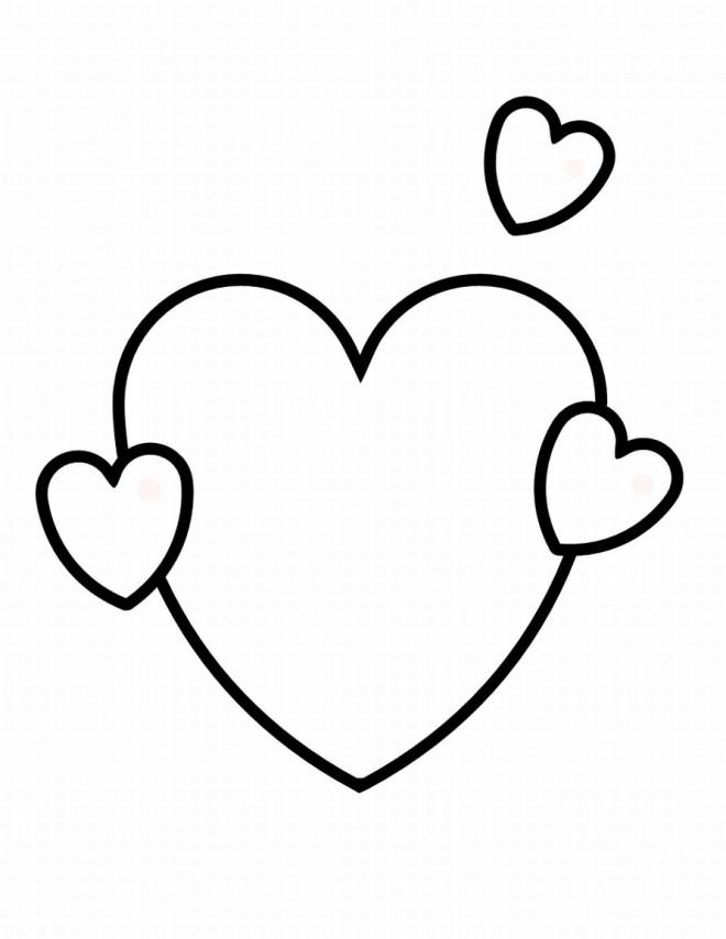 Coloriage Coeur Stylise Dessin Gratuit A Imprimer