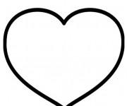 Coloriage Coeur vecteur