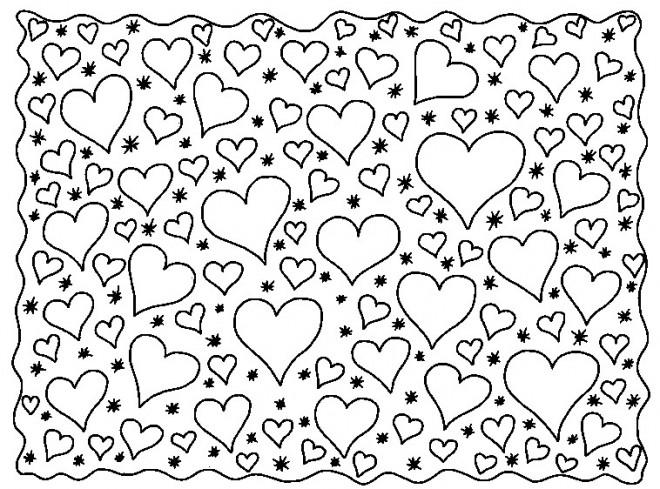 Coloriage et dessins gratuits Des Coeurs Partout à imprimer