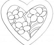 Coloriage Fleur St-Valentin