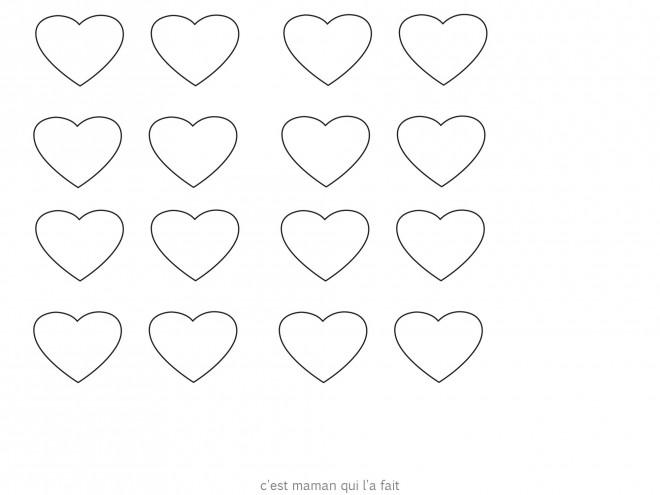 Coloriage et dessins gratuits Illustrations Coeurs à imprimer