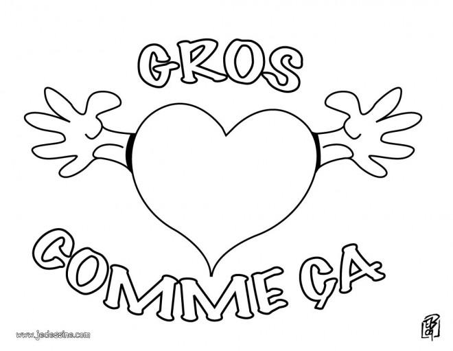 Coloriage et dessins gratuits Un Gros Coeur à imprimer