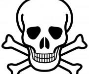 Coloriage et dessins gratuit Crâne des pirates à imprimer