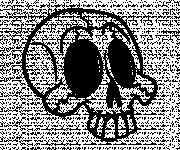 Coloriage et dessins gratuit Crâne drôle à imprimer