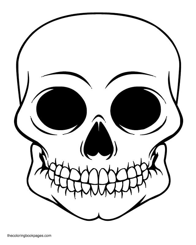 Coloriage Crâne En Noir Et Blanc Dessin Gratuit à Imprimer