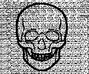 Coloriage Crâne facile