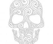 Coloriage et dessins gratuit Crâne mexicain à imprimer