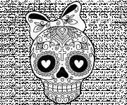 Coloriage Crâne mexicain en ligne