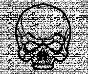 Coloriage Crâne qui fait peur