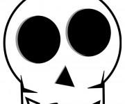 Coloriage et dessins gratuit Crâne stylisé à imprimer