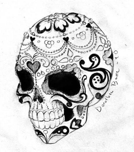 Coloriage et dessins gratuits Feuille Crâne de mort à imprimer