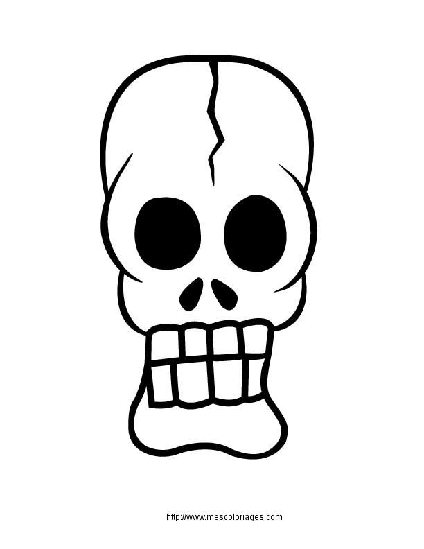 Coloriage Petite Tête De Mort Dessin Gratuit à Imprimer