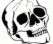 Coloriage et dessins gratuit Tête de mort à imprimer