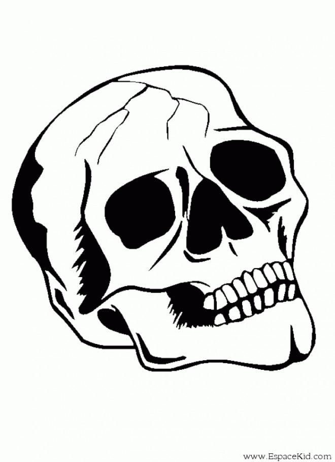 Coloriage Tête De Mort Dessin Gratuit à Imprimer