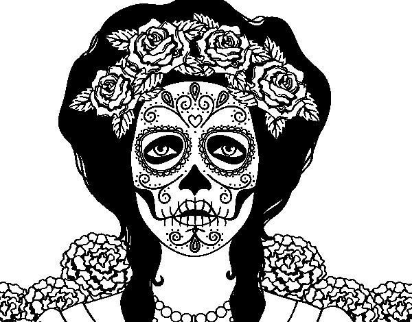 Coloriage Tête De Mort Mexicaine Dessin Gratuit à Imprimer