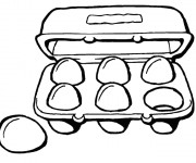 Coloriage et dessins gratuit Aliments de la cuisine à imprimer