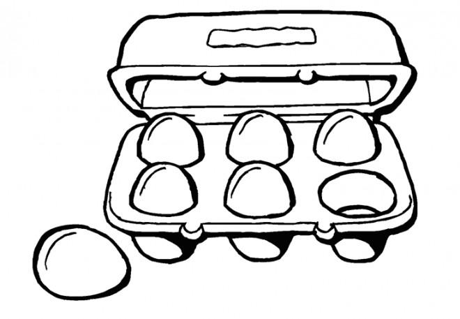 Coloriage et dessins gratuits Aliments de la cuisine à imprimer