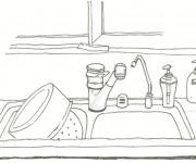 Coloriage et dessins gratuit Bassin de La Cuisine à imprimer