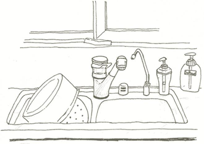Coloriage et dessins gratuits Bassin de La Cuisine à imprimer