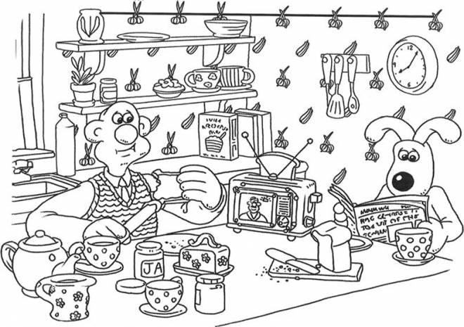 Coloriage et dessins gratuits C'est l'heure de déjeuner à imprimer